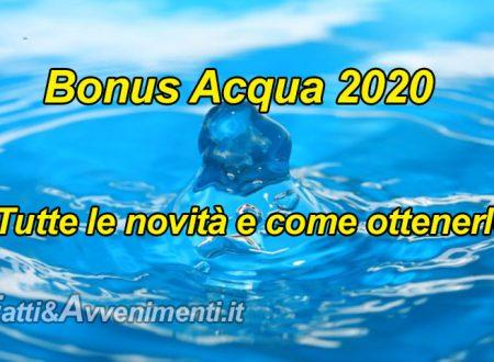 """Arriva il """"bonus acqua"""", anche per chi ha reddito e pensione di cittadinanza: ecco quando e come fare richiesta"""