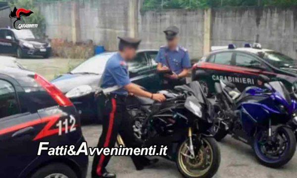 Ribera. Rubano due grosse moto da un negozio, i carabinieri individuano un uomo e recuperano i mezzi