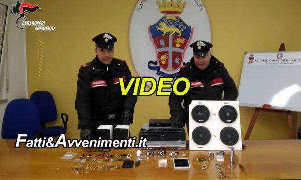 Sciacca. Rumeno beccato a rubare nella camera da letto di una casa: arrestato e refurtiva recuperata – VIDEO