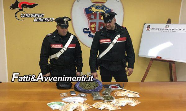 Sciacca. Arrestati coniugi lui 33 anni e lei 30 trovati con 1 Kg di marijuana e 20.000 euro