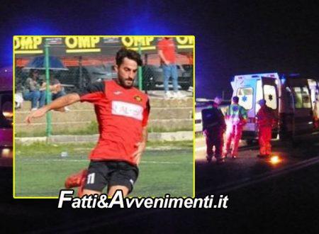 Altofonte (PA). Scontro tra 2 auto nelle notte: perde la vita un calciatore 31enne e ferite gravemente due donne