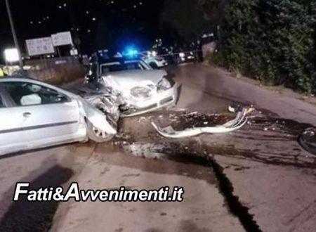Monreale (PA). Scontro tra due auto: perde la vita un uomo, feriti due giovani di 19 e 20 anni, uno è grave