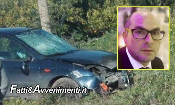 Palagonia (CT). Si schianta con l'auto contro un terrapieno: perde la vita un 41enne