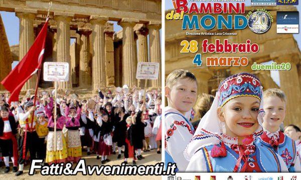 """Agrigento. 28 febbraio-4 marzo: il 20° Festival Internazionale """"I Bambini del Mondo"""" aprirà il """"Mandorlo in Fiore"""""""