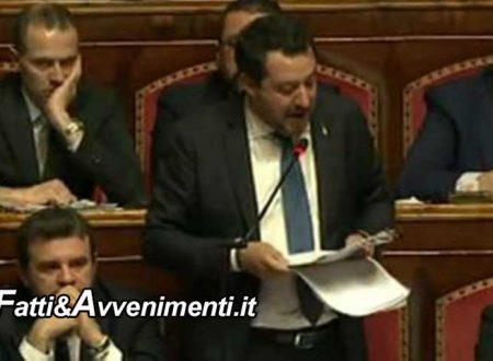 """Gregoretti. Il Senato vota SI per processare Salvini, che in aula replica: """"Difendere i confini era mio dovere"""""""