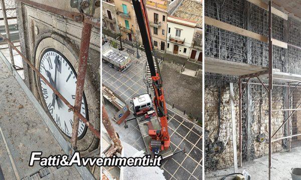 Caltabellotta (AG). Consolidamento antisismico del palazzo comunale: interventi sulla torre campanaria