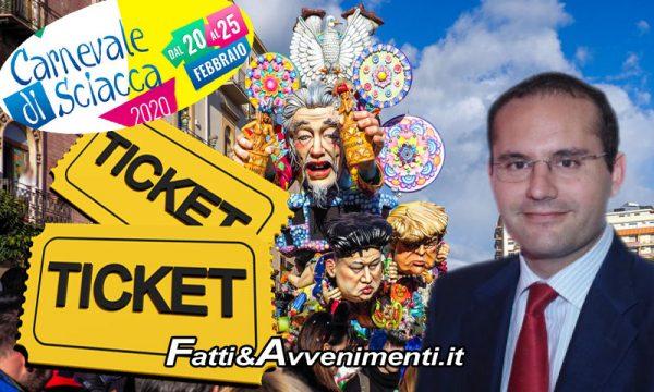 """Sciacca, Carnevale. Scaduto: """"Comune spenderà circa 200mila euro e Futuris incasserà il 78% dei ticket più contributi, sponsor e suolo pubblico"""""""