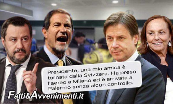 """Sicilia, Coronavirus. Governatore Musumeci: """"Controlli sanitari assenti, latitanza del governo Conte"""""""