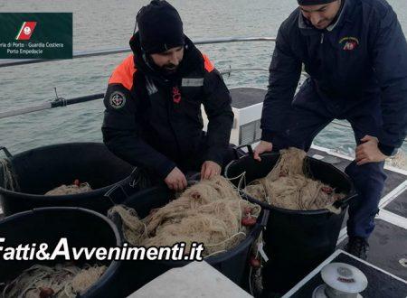 Ribera. Guardia Costiera becca pescatori di frodo: sequestrate centinaia di metri di reti illegali e multa da 1000 euro