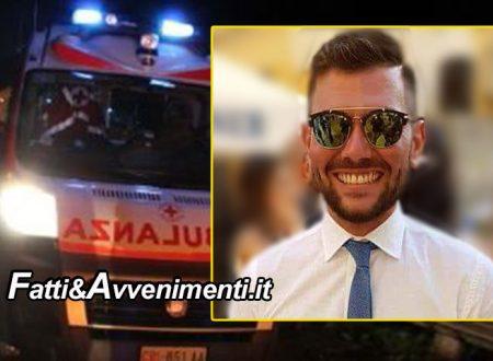 Ravanusa (AG). Incidente nella notte: muore un 28enne, gravi tre giovani trasferiti a Caltanissetta