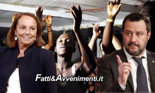 """Via libera della Lamorgese: più soldi per accogliere i migranti. Salvini: """"Si riapre il portafogli degli italiani. Vergogna"""""""