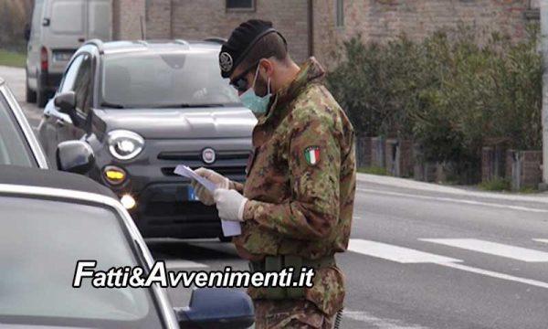 """Sicilia. Casi di coronavirus in aumento, Musumeci: """"Da domani esercito in campo per i controlli"""""""