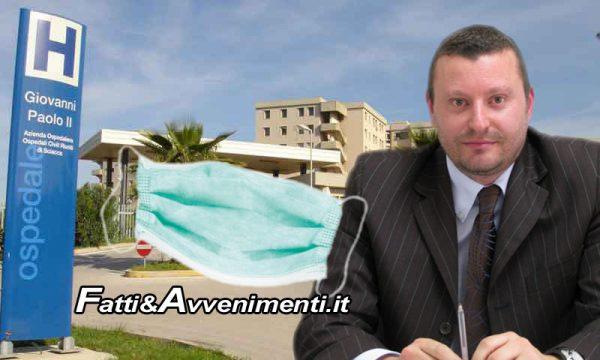 """Sciacca. Silvio Caracappa scrive all'Asp: """"Servono mascherine e altro materiale all'Ospedale Giovanni Paolo II"""""""