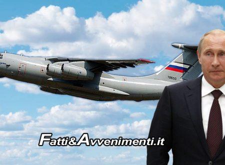 Coronavirus. L'Esercito Russo ci aiuta: Putin invia in Italia 9 aerei con medici militari e attrezzature