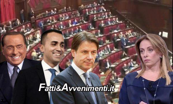 MES. Bocciato Odg Meloni e M5S si spacca, ma Berlusconi soccorre Governo: Conte rischia la poltrona?