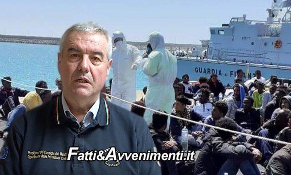 """Coronavirus, Porti chiusi? Solo sulla carta, Borrelli: """"Pronte navi e strutture a terra per quarantena migranti"""""""
