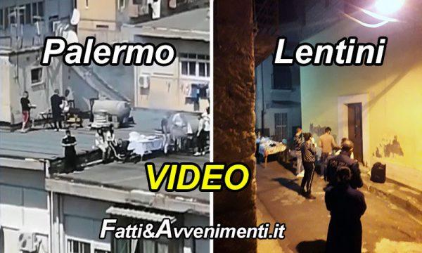 Coronavirus a Pasqua. A Palermo grigliate e musica sui tetti, a Lentini tavolata in strada con 8 persone