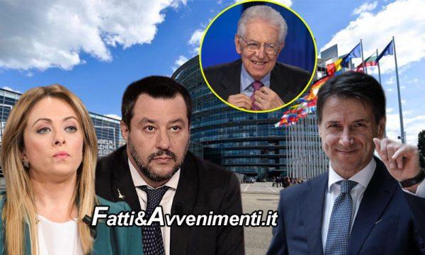 MES. Conte attacca Salvini e Meloni mentendo: nel 2012 c'era Monti, Lega votò contro, Meloni assente e partito non ancora nato