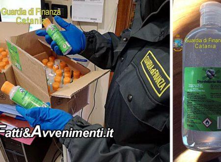 Catania, Coronavirus. Detersivo venduto come dispositivo medico disinfettante anche a farmacie: sequestrato