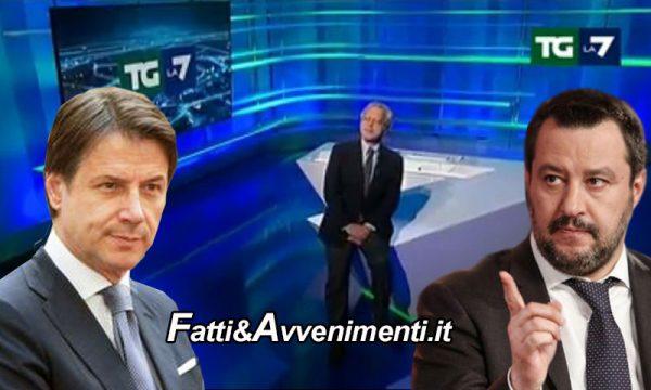 """Coronavirus e Mes. Mentana asfalta Conte e M5s. Per Salvini """"Il Mes è come andare dallo strozzino"""""""