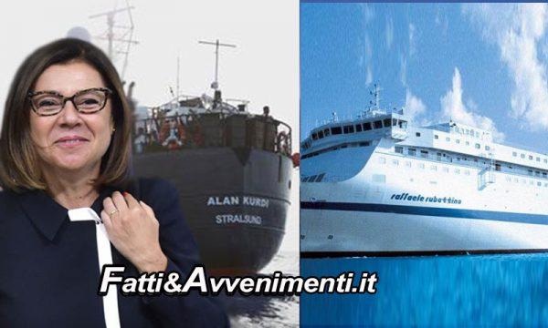 Il ministro De Micheli autorizza la Croce Rossa a trasferire i migranti della Alan Kurdi su lussuosa nave traghetto