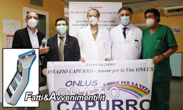 Sciacca. Consegnato un Bilirubinometro Transcutaneo donato dall'Ass. CAPURRO all'ospedale Giovanni Paolo II