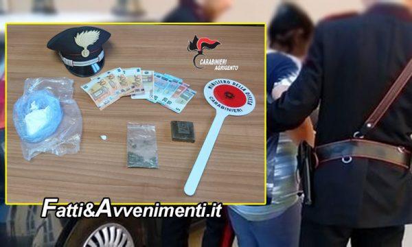 Ribera (AG). Donna beccata con 100 g di cocaina e mezzo panetto di hashish negli slip: arrestata