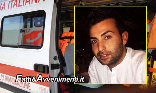 Agira (EN). Si schianta con la moto su una fontana: muore un giovane 27enne