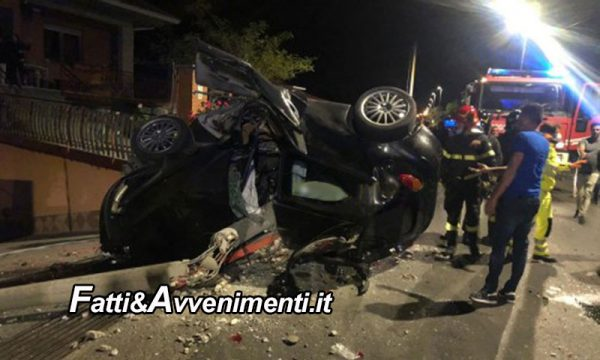Maniace (CT). Si schianta con l'auto su un palo della luce: perde la vita un 23enne