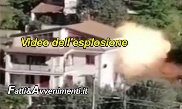 Monreale. Scoppia bombola di caldaia a gas: un ferito, tragedia sfiorata, video tremendo