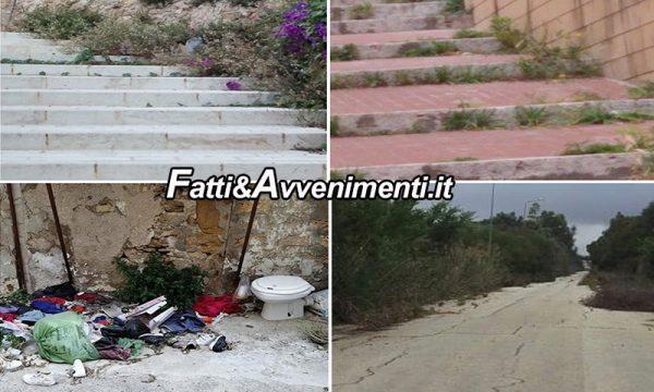 """Sciacca. Monte, Santangelo e Deliberto: """"Città abbandonata,  erbacce e rifiuti 'Regine' incontrastate, intervenite subito"""