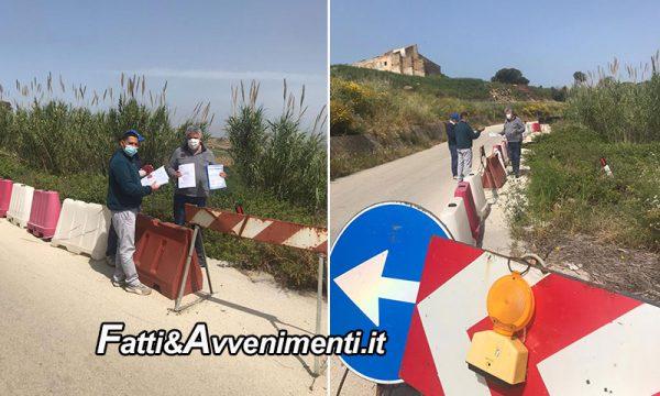 Strada Provinciale 79-A Sciacca-Menfi: Consegnati i lavori  per il miglioramento della strada