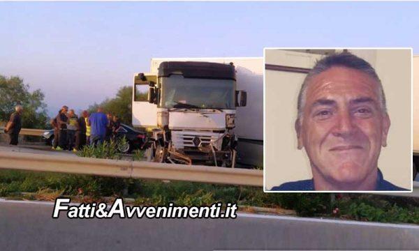 Incidente mortale sulla Palermo Mazara: Tir si schianta sul guardrail, muore un uomo di 58 anni