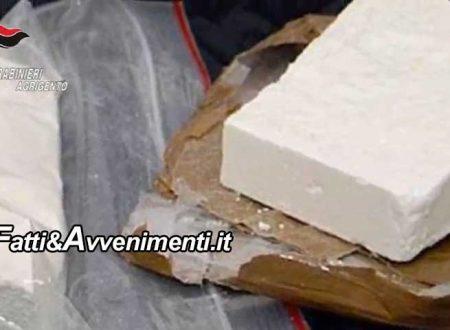 Scala dei Turchi. (AG). Due chili e mezzo di cocaina purissima su camion con animali: arrestati due trafficanti