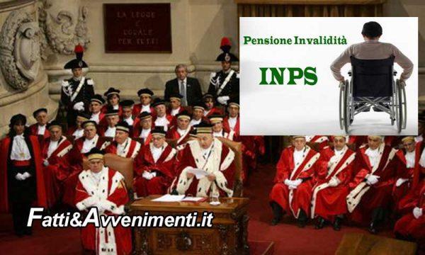 Corte Costituzionale. Pensione invalidi 286 euro non bastano per vivere e impone al governo di adeguarla a 516 euro