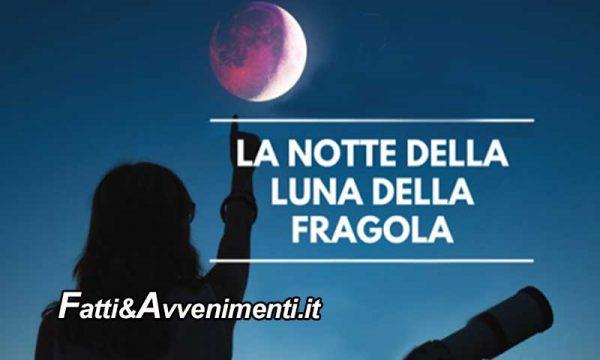 """Eclissi di Luna penombrale o """"Luna della Fragola"""": questa sera l'evento di giugno imperdibile"""