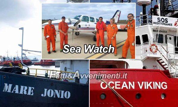 Mare Jonio preleva 43 migranti davanti la Libia, Ocean Viking con 118 aspetta porto sicuro e Sea Watch ha un aereo