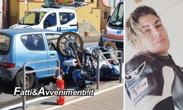 Messina. Scontro auto – moto che rimane incastrata: perde la vita una ragazza di 33 anni