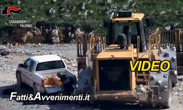 Palermo. Filmati mentre rubavano carburante dai mezzi raccolta rifiuti di Bellolampo: 21 gli arrestati