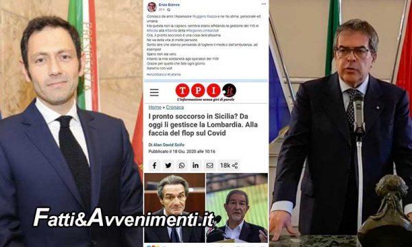 """Sicilia. Gestione Pronto Soccorso alla Lombardia? Razza minaccia querela: """"Falso, Enzo Bianco chieda scusa"""""""