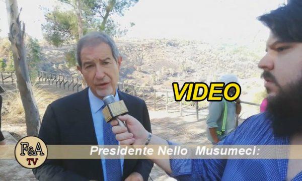 """Ribera. Presidente Musumeci al Fiume Verdura per pulizia dell'alveo: """"Intervento atteso da 30 anni"""""""