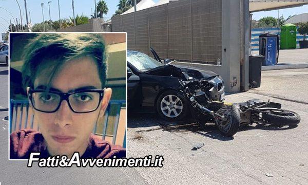Siracusa. Tragico scontro auto-moto : perde la vita un 22enne. Aperta inchiesta per omicidio stradale
