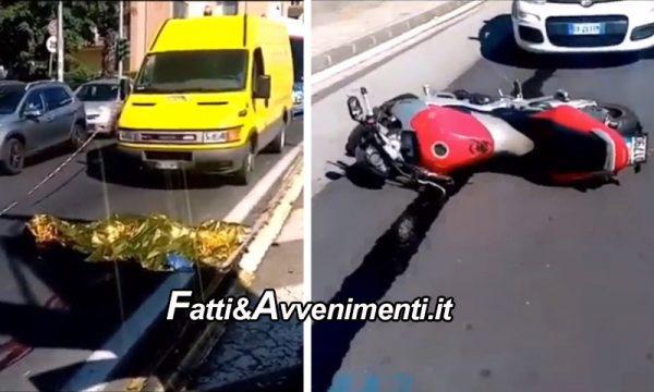 Catania. Tragico incidente in moto in zona Policlinico: 24enne muore sul colpo