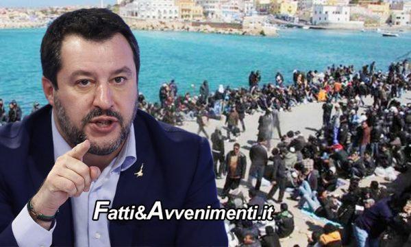 """Lampedusa. Oggi arriva Salvini: """"1400 migranti in 48 ore. Governo complice che ammazza la Sicilia"""""""