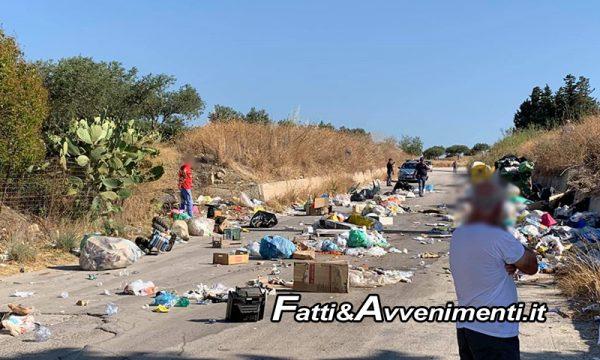 Sciacca. C.da Santa Maria bloccata dai rifiuti: inciviltà, protesta o gesto volto ad altro?