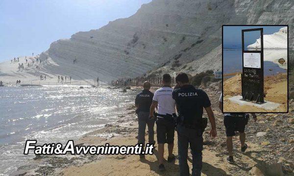 """Scala dei Turchi, denunciate 24 persone per """"violazione dei sigilli"""": rischiano tre anni di carcere"""