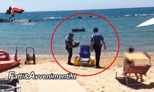 Agrigento, San Leone. Ignoti rubano sedia a rotelle per spiaggia: denunciato 35enne per incauto acquisto