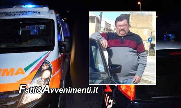 Canicattì. Scontro tra due auto, nell'impatto perde la vita un uomo di 64 anni