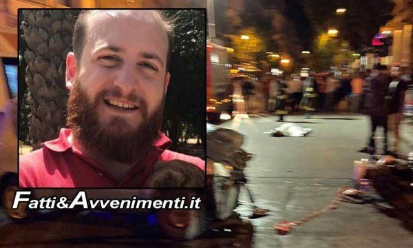 Palermo. Gravissimo incidente in Via Roma: auto contro moto, muore un 30enne