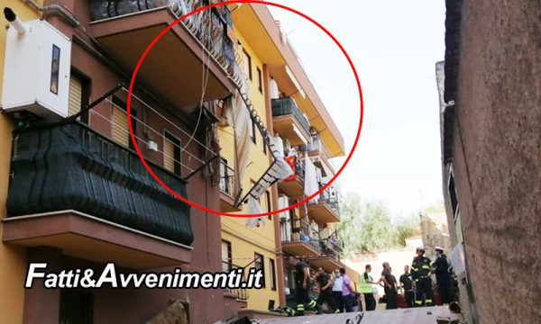 Caltanissetta. Crolla un balcone e travolge un'anziana: estratta dalle macerie viva e trasferita all'ospedale S.Elia